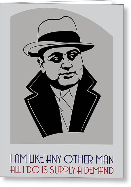 Al Capone Greeting Cards - Al Capone Poster Art Greeting Card by Florian Rodarte