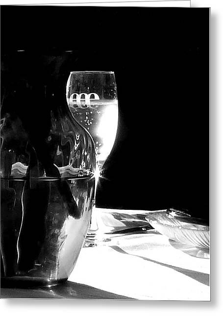 Table Wine Greeting Cards - Al Fresco Sparkle Greeting Card by Lori Seaman