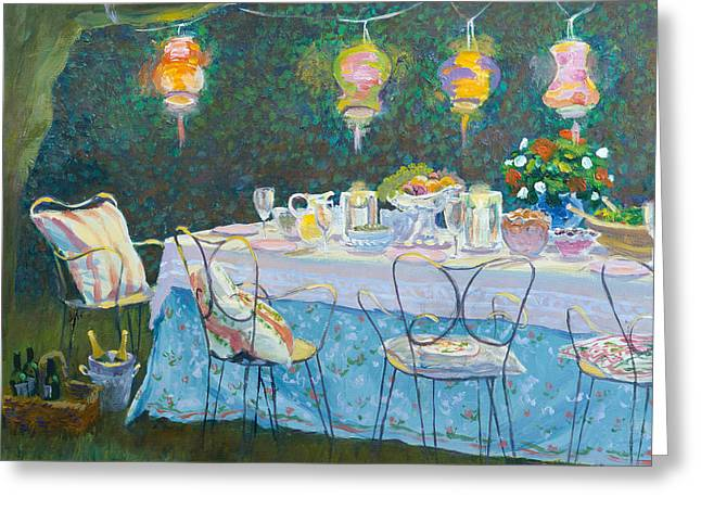 Party Invite Greeting Cards - Al Fresco  Greeting Card by William Ireland