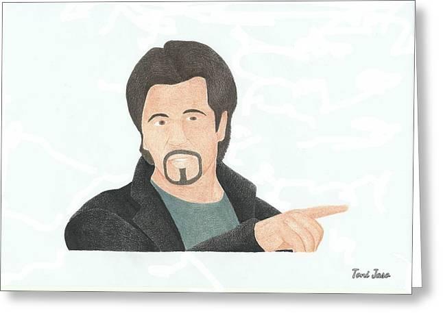 Film Maker Drawings Greeting Cards - Al Pacino Greeting Card by Toni Jaso