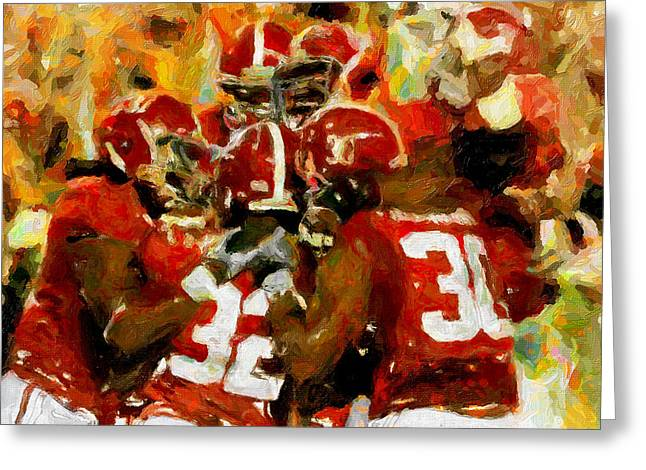 Bear Bryant Paintings Greeting Cards - Alabama Celebrate Greeting Card by John Farr