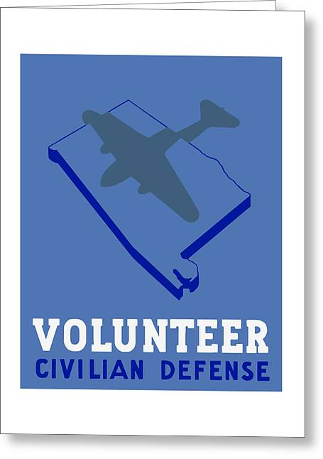 Civilians Greeting Cards - Alabama Civilian Defense WPA Greeting Card by War Is Hell Store