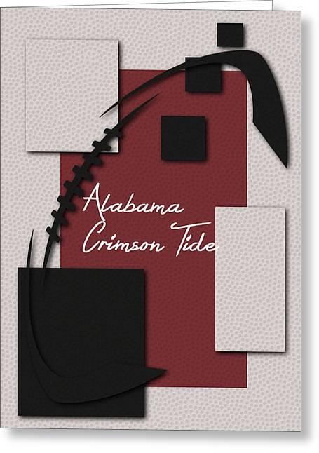 Alabama Crimson Tide Art Greeting Card by Joe Hamilton