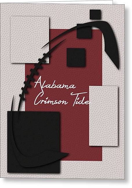Alabama Crimson Tide Greeting Cards - Alabama Crimson Tide Art Greeting Card by Joe Hamilton