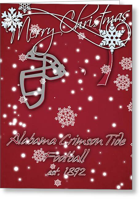 Alabama Crimson Tide Christmas Card 2 Greeting Card by Joe Hamilton