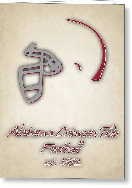 Alabama Crimson Tide Helmet 2 Greeting Card by Joe Hamilton
