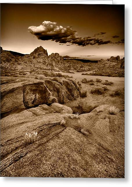 Alabama Greeting Cards - Alabama Hills California B W Greeting Card by Steve Gadomski