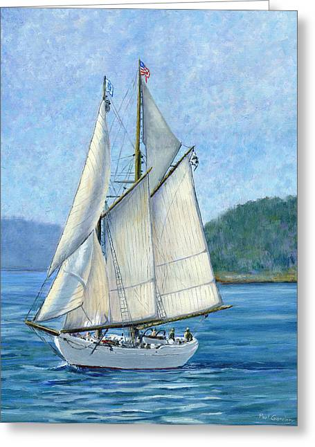 Wooden Ship Paintings Greeting Cards - Alabama  Greeting Card by Paul Gardner