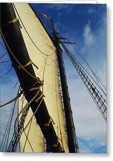 Schooner Greeting Cards - Alabama Greeting Card by Peter Duffy