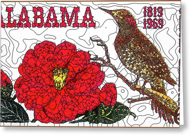 Alabama Statehood 150th Anniversary Greeting Card by Lanjee Chee