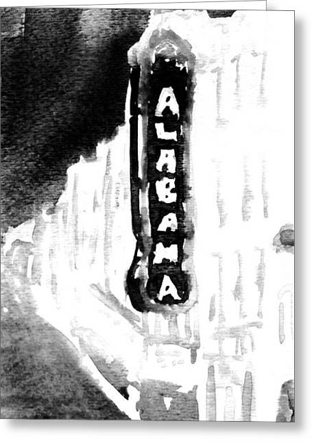 Alabama Drawings Greeting Cards - Alabama Theater Greeting Card by Hae Kim