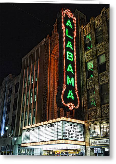 Alabama Theater Greeting Card by Stephen Stookey