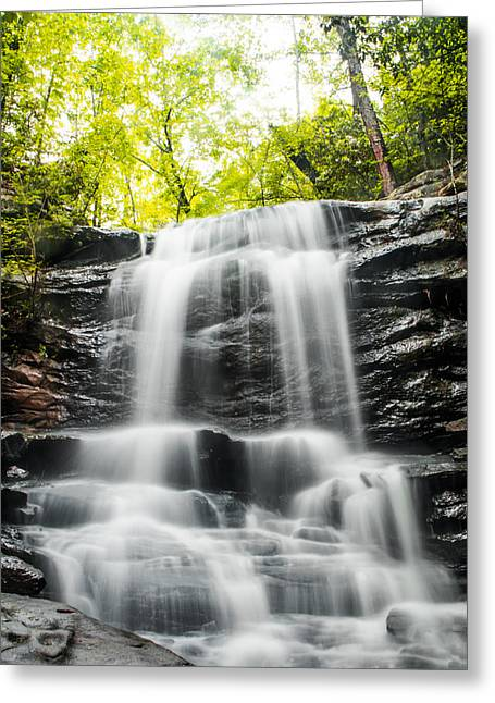 Music Time Photographs Greeting Cards - Alabamas High Falls Greeting Card by Shelby  Young