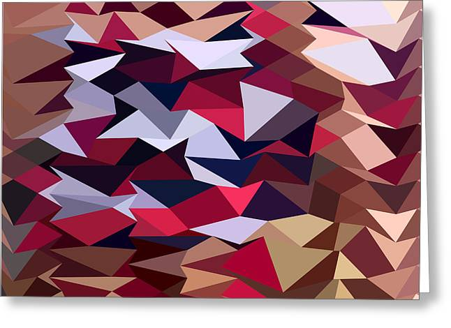 Polygon Greeting Cards - Alabaster Abstract Low Polygon Background Greeting Card by Aloysius Patrimonio