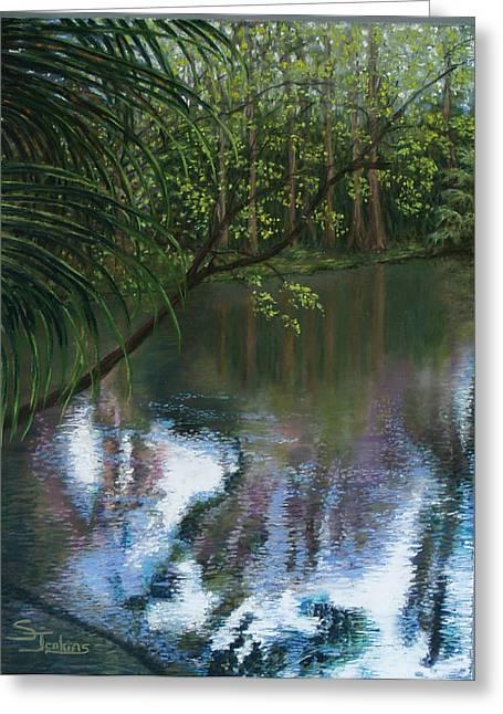 Reflection Pastels Greeting Cards - Alafia River Reflection Greeting Card by Susan Jenkins