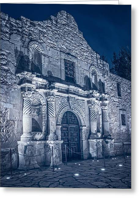 Stones Greeting Cards - Alamo Door BW Greeting Card by Joan Carroll