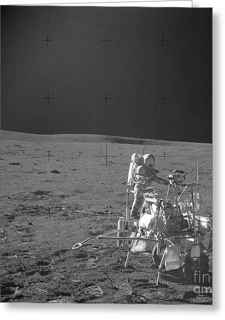 Lunar Surface Greeting Cards - Alan Shepard On Moon Greeting Card by Nasa