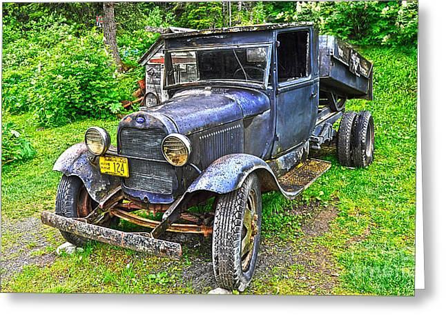 Klondike Gold Rush Greeting Cards - Alaska Historic Vehicle 124 Greeting Card by Diane E Berry