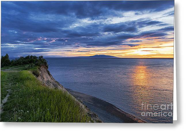 Ak Greeting Cards - Alaska Sunset Greeting Card by John Greim