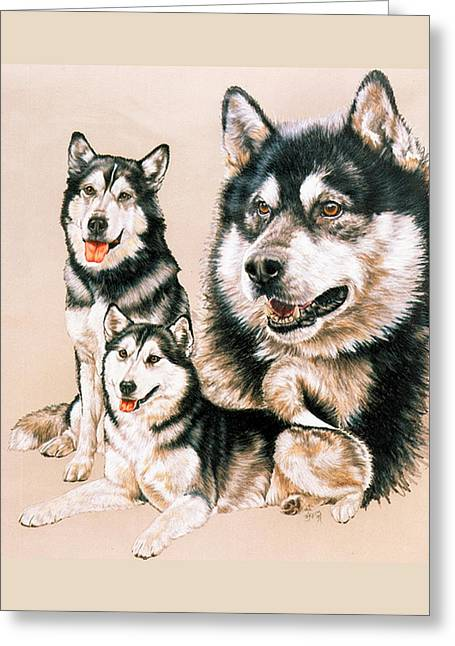 Working Dog Greeting Cards - Alaskan Malamute Greeting Card by Barbara Keith