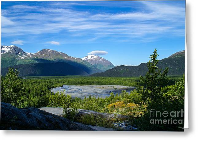 Alaska Greeting Cards Greeting Cards - Alaskas Exit Glacier Valley Greeting Card by Jennifer White