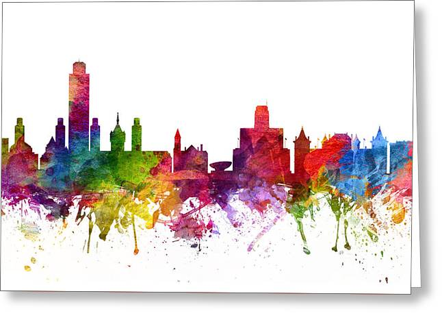Albany Greeting Cards - Albany Cityscape 06 Greeting Card by Aged Pixel