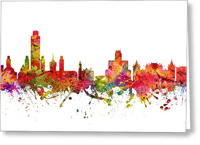 Albany Greeting Cards - Albany Cityscape 08 Greeting Card by Aged Pixel