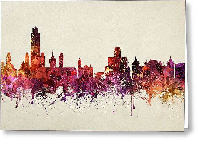 Albany Greeting Cards - Albany Cityscape 09 Greeting Card by Aged Pixel