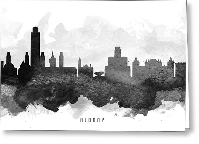 Albany Greeting Cards - Albany Cityscape 11 Greeting Card by Aged Pixel