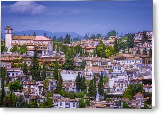 Granada Greeting Cards - Albayzin View Granada Greeting Card by Joan Carroll