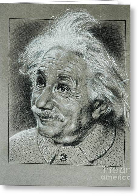 Albert Einstein Greeting Card by Anastasis  Anastasi