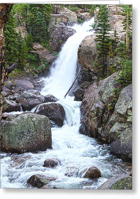 David Yunker Greeting Cards - Alberta Falls Greeting Card by David Yunker
