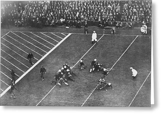 Albie Booth Kick Beats Harvard Greeting Card by Underwood Archives