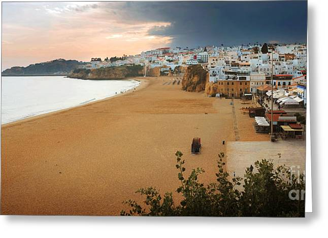 Albufeira Panorama Greeting Card by Carlos Caetano
