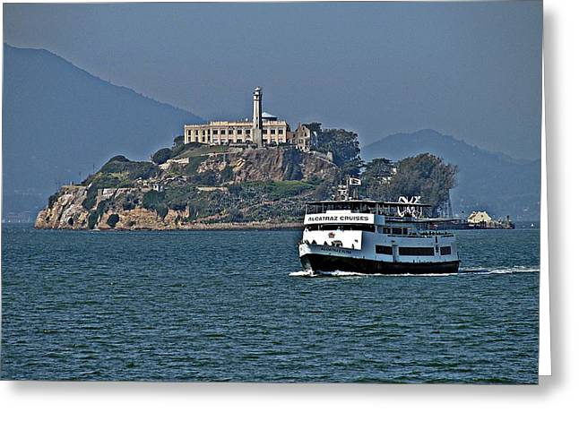 Californian Greeting Cards - Alcatraz Cruises Greeting Card by D M