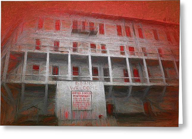 Alcatraz Greeting Cards - Alcatraz Federal Penitentiary Greeting Card by Michael Cleere