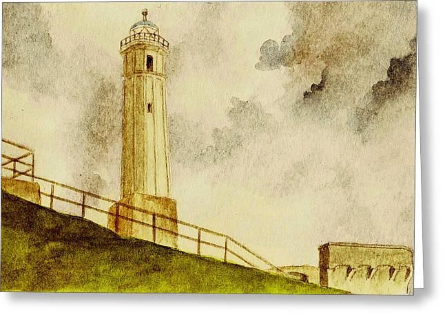Alcatraz Lighthouse Greeting Cards - Alcatraz Island Lighthouse Greeting Card by Michael Vigliotti