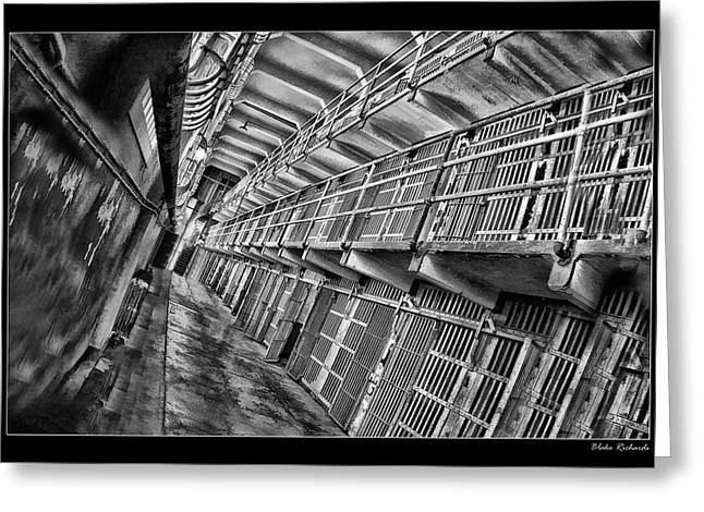 Alcatraz The Cells Greeting Card by Blake Richards