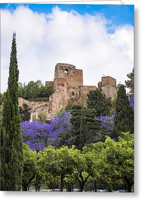Malaga Greeting Cards - Alcazaba - Malaga Spain Greeting Card by Jon Berghoff