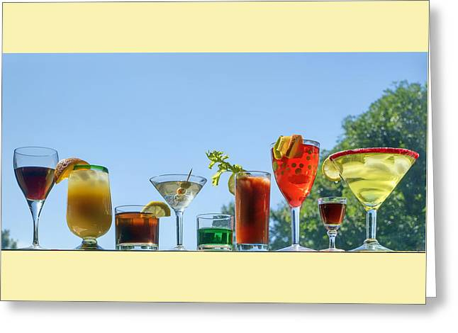Alcoholic Beverages - Outdoor Bar Greeting Card by Nikolyn McDonald