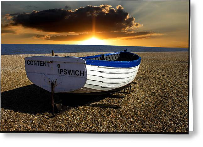 Aldeburgh Beach Greeting Card by Martin Newman