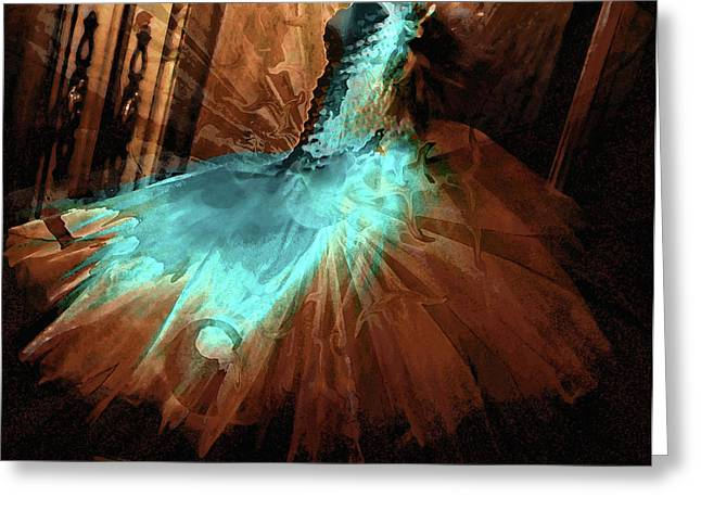 Gown Digital Art Greeting Cards - Alessandras Dress Greeting Card by Molly McPherson