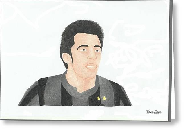 Alessandro Del Piero Greeting Card by Toni Jaso