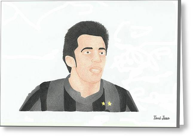 Player Drawings Greeting Cards - Alessandro Del Piero Greeting Card by Toni Jaso