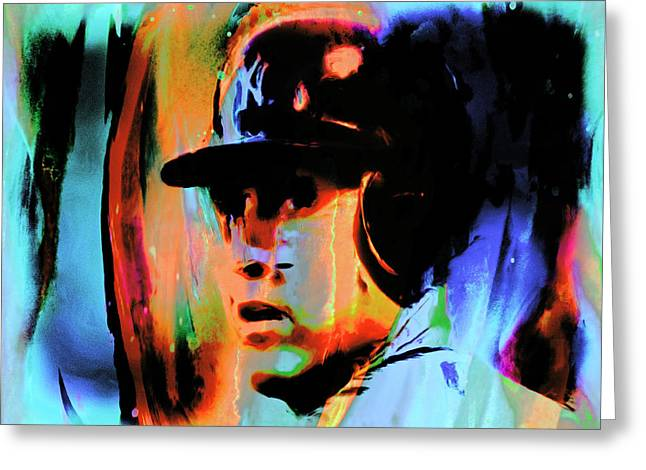 Major Award Greeting Cards - Alex Rodriguez 02c Greeting Card by Brian Reaves