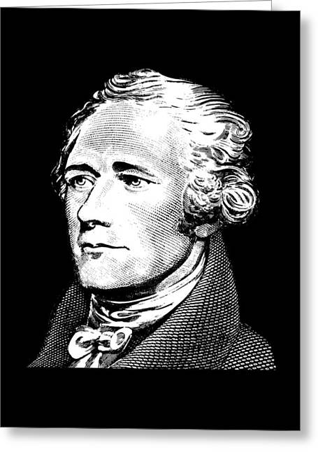 Alexander Hamilton - Founding Father Graphic  Greeting Card by War Is Hell Store