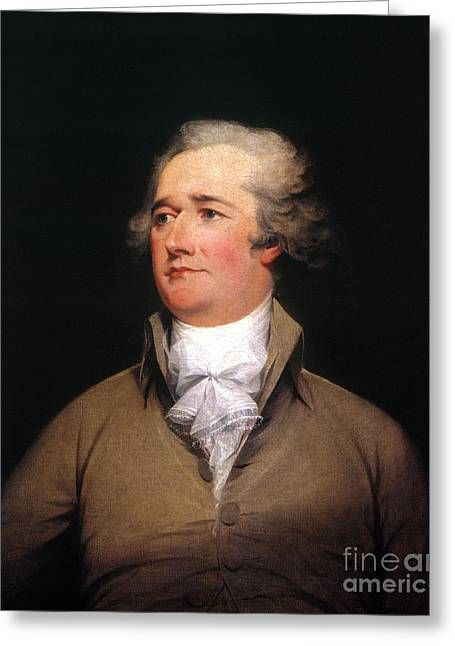 Statesman Greeting Cards - Alexander Hamilton Greeting Card by Granger