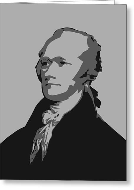 Alexander Hamilton Graphic Greeting Card by War Is Hell Store