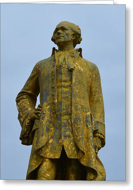 Statue Portrait Greeting Cards - Alexander Hamilton Monument Greeting Card by Richard Andrews