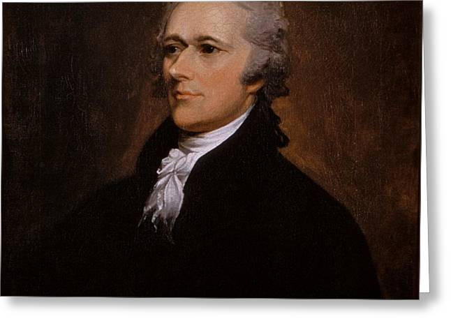 John Trumbull Greeting Cards - Alexander Hamilton portrait Greeting Card by John Trumbull